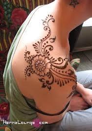 shoulder and back hena tattoo design