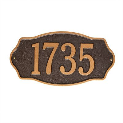 FREE SHIPPING! Shop Wayfair for Old Century Forge Hampshire Wall 1 Line Address Plaque - Great Deals on all Patio & Garden products with the best selection to choose from!