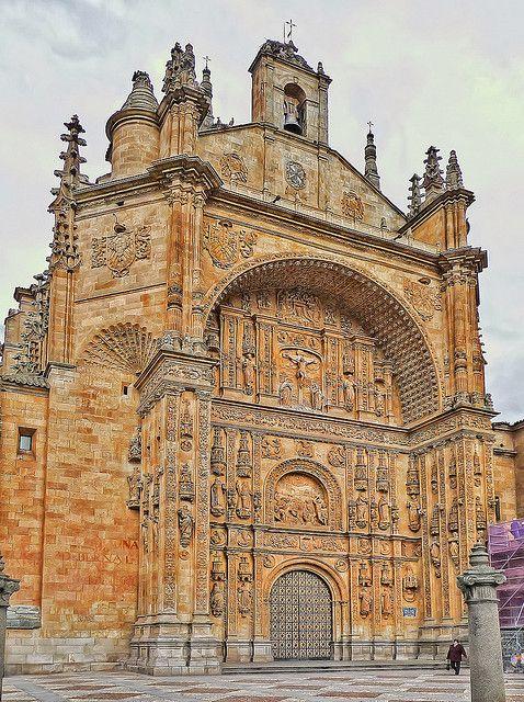 San Esteban façade, Salamanca, Spain