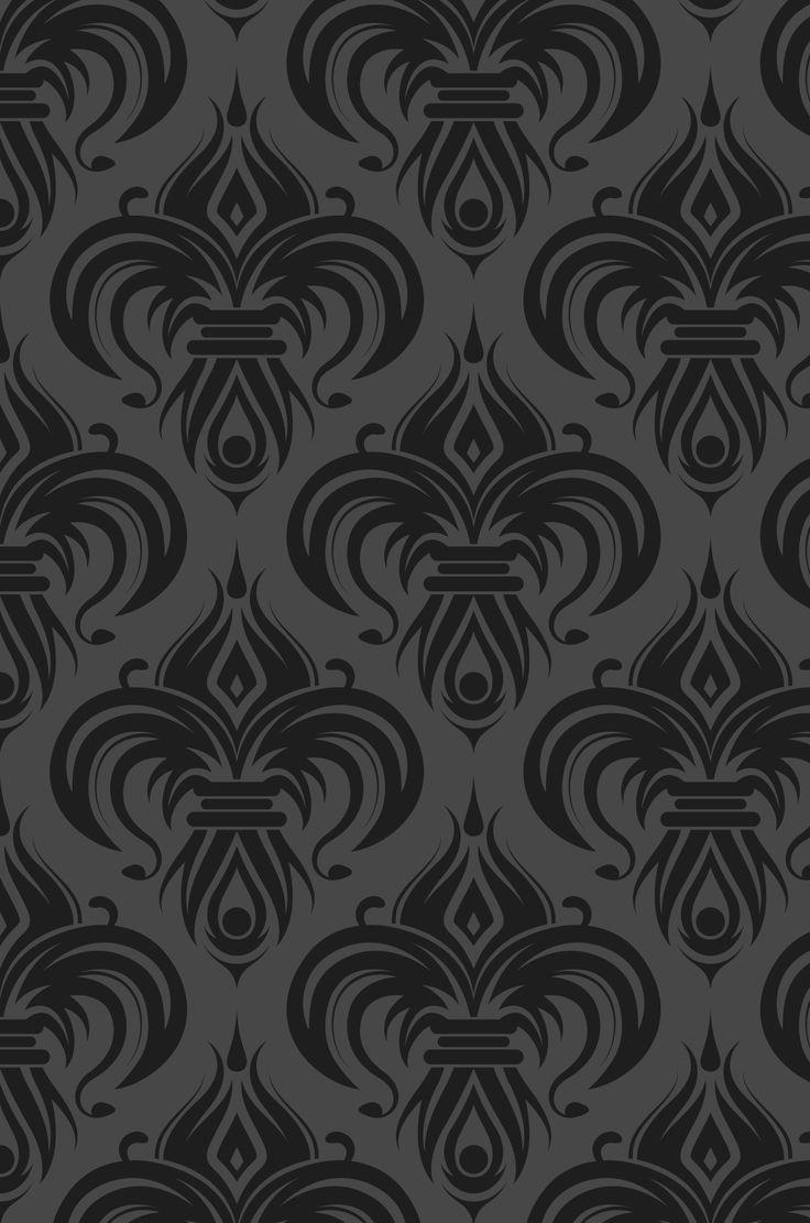 Fondo gris oscuro y diseño negro