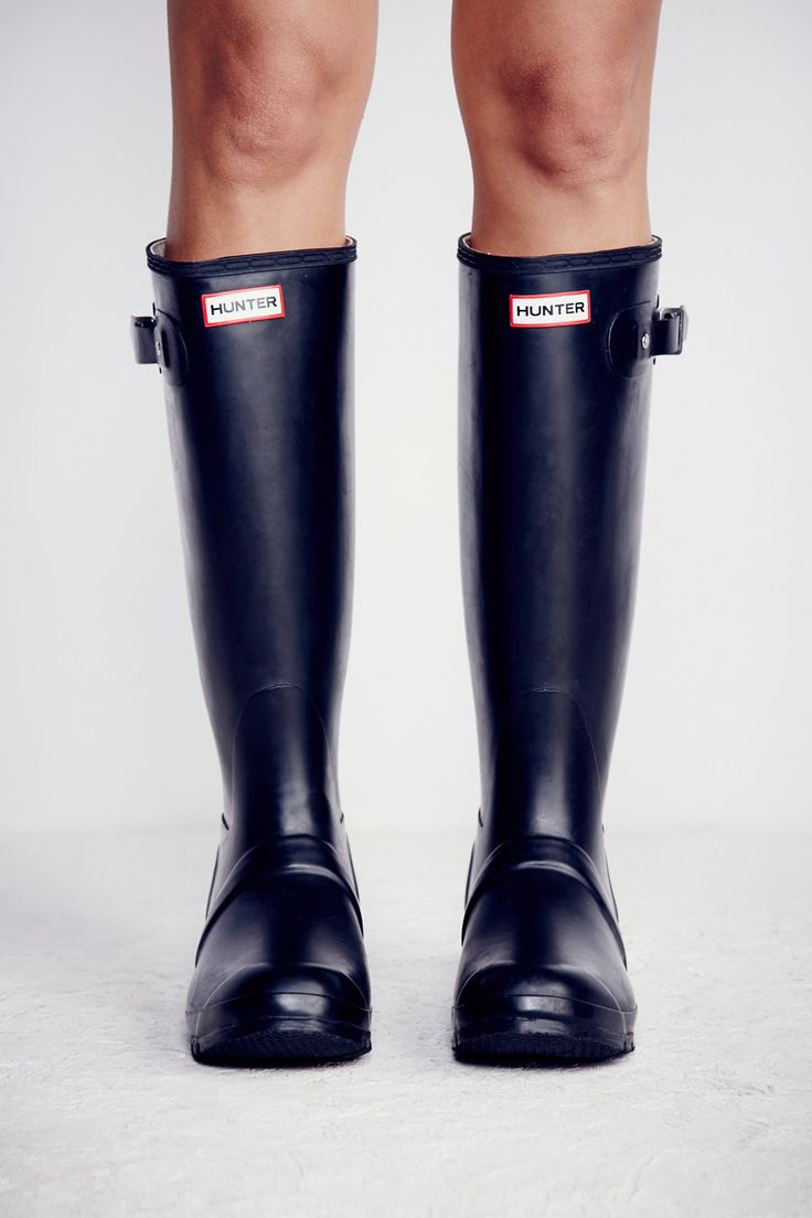 Hunter Black Hunter Wellies at Free People Clothing Boutique