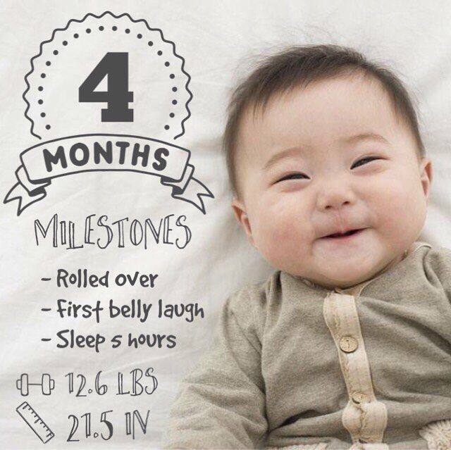 4 months and getting so big! Just love the monthly milestone photos created with our app. Tag #LittleNuggetCo in your pics for a chance to be featured. Get Little Nugget for iPhone today  link in our profile.