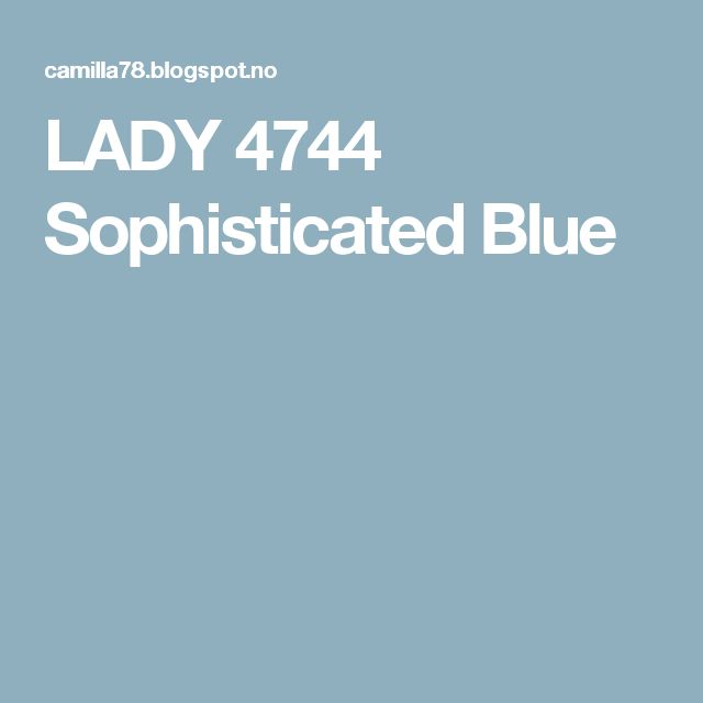 LADY 4744 Sophisticated Blue