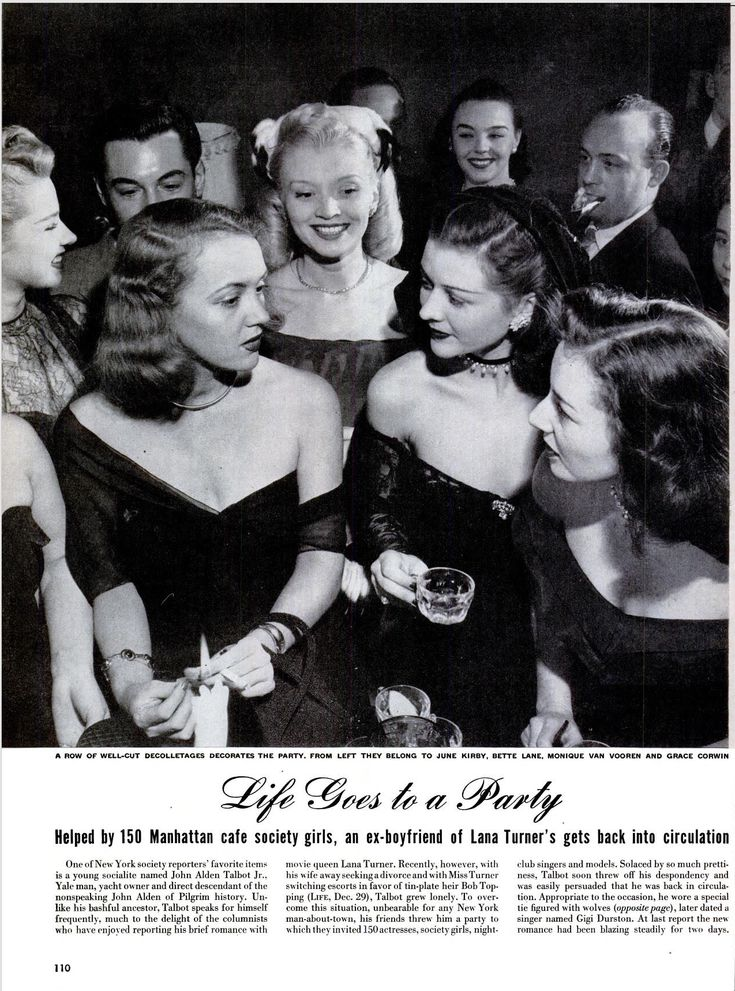 Life goes to a Party; Helped by 150 Manhattan cafe society girls, an ex-boyfriend of Lana Turnerks gets back into circulation. ※1/12/1948,LIFE�