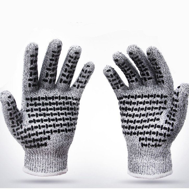 Mens Breathable Anti-cutting Gloves Proof Protect HHPE Safety Mesh Butcher Cut Resistant Work Gloves