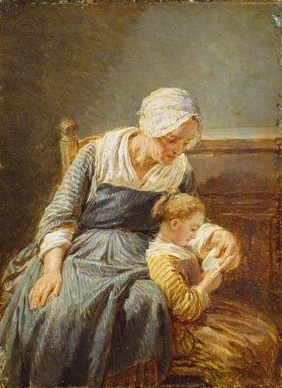 """""""The Reading Lesson"""", c.1779. Nicholas-Bernard Lépicié (1735–1784), French painter. Collection: The Wallace Collection."""