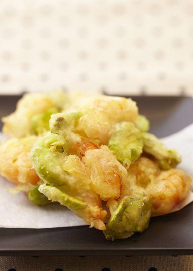 小エビと野菜のかきあげ のレシピ・作り方 │ABCクッキングスタジオの ... みつ葉・枝豆などを使ってもきれいにできます! 玉ねぎ・ごぼう・人参・さつまいも・春菊など、好きな野菜をなんでもせん切りにして入れてみましょう☆