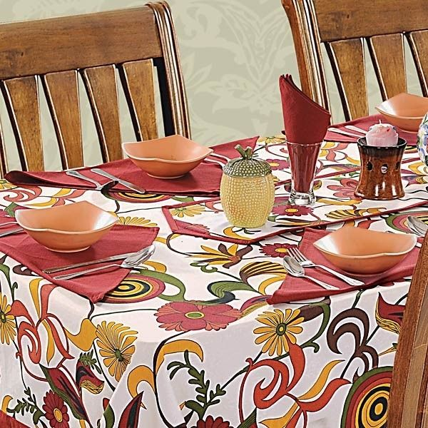 Carnival Printed Rectangular Table Linen-3702