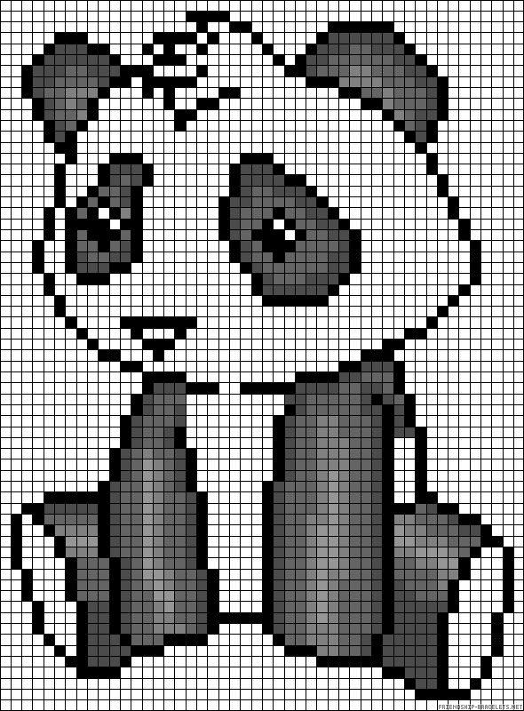 panda alpha bracelet pattern