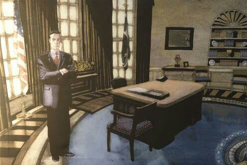 Isaac Mendez prophetic painting; Nathan Petrelli as President of the United States. #heroes