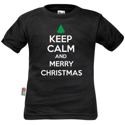 T-shirt enfant : Keep Calm and MERRY CHRISTMAS (m. courtes ou longues)