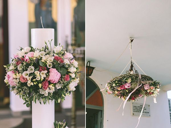 Church Decoration!  #candles #decoration #candledecoration #flowers #flowerdecoration #chandelier #flowerchandelier #weddingplanner #dreamsinstyle #greekwedding