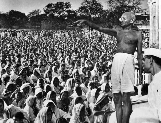 critics of gandhian ideology The 1990 annual gandhi lecture for the international association of gandhian mahatma gandhi and his myths civil these critics believe that indians.