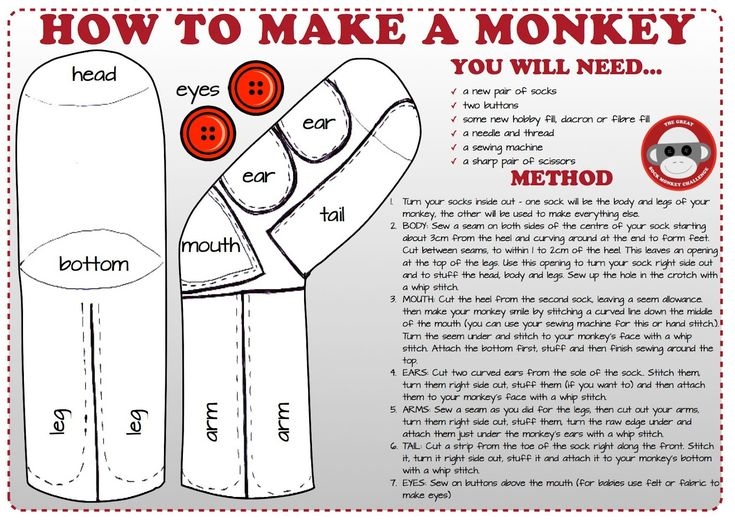 How to make a sock monkey - found this, it looks relatively easy, can't wait to try it out!