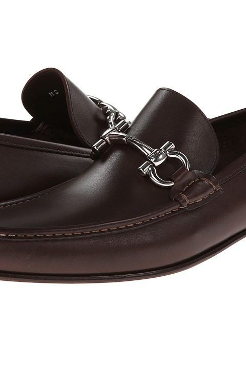 Salvatore Ferragamo Giordano Gancio Bit Loafer (Marrone) Men's Slip-on Dress Shoes - Salvatore Ferragamo, Giordano Gancio Bit Loafer, 0429417-913, Footwear Closed Slip-on Dress, Slip-on Dress, Closed Footwear, Footwear, Shoes, Gift, - Street Fashion And Style Ideas