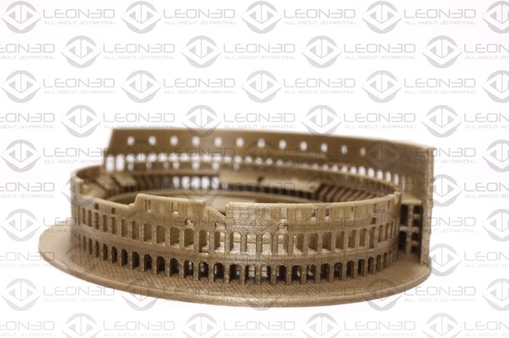 Coliseo impreso en PLA DORADO  #LEON3D #PLA #3dprinting #tecnologia #Rome