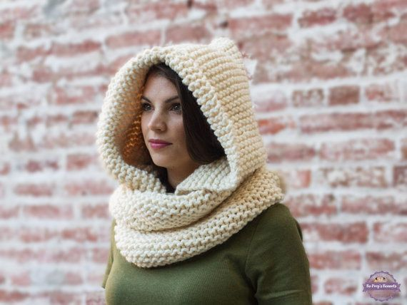 Hooded Scarf Knitting Pattern For Beginners : 991 best images about Bo Peeps Bonnets on Pinterest
