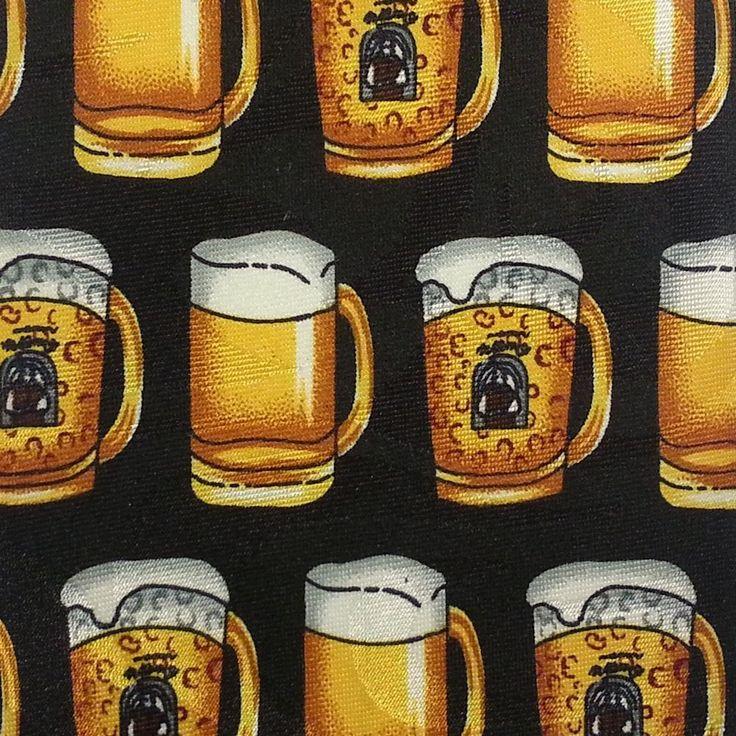 Steven Harris Mens Necktie Handmade Black Gold Short Wide Tie Beer Mugs #StevenHarris #NeckTie