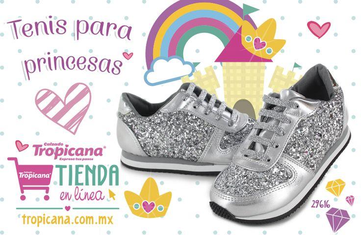 ✨ Encuentra #tenis #Tropicana especiales para las #princesas de la casa en nuestra tienda en línea ✨   Tenemos envíos a toda la República Mexicana 📦 #CalzadoInfantil