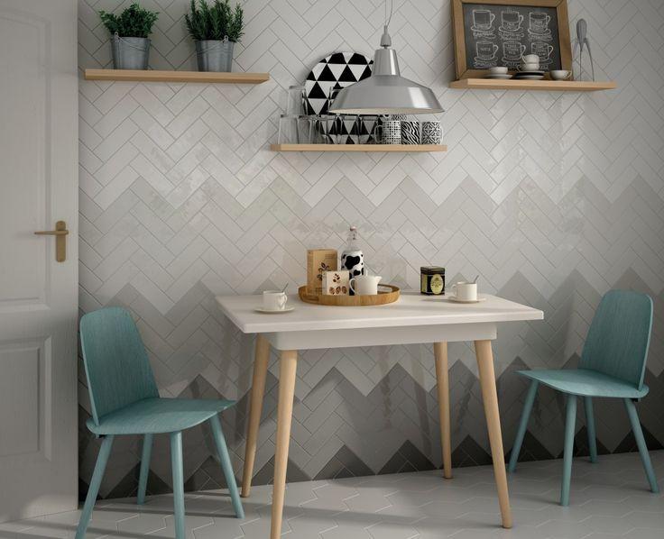 grey color shade herringbone tile
