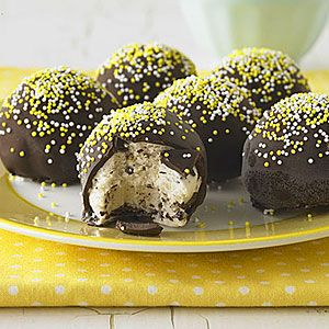 Easy homemade ice cream bonbons, made with any flavor bought ice cream and melted chocolate