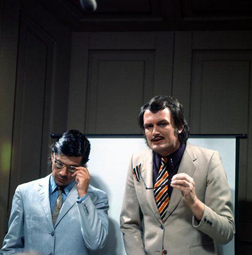 De cabaretiers Kees van Kooten en Wim de Bie, Nederland 1970-1980.