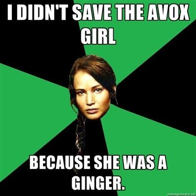I'm about to explode pinterest with hunger games memes....be ready.