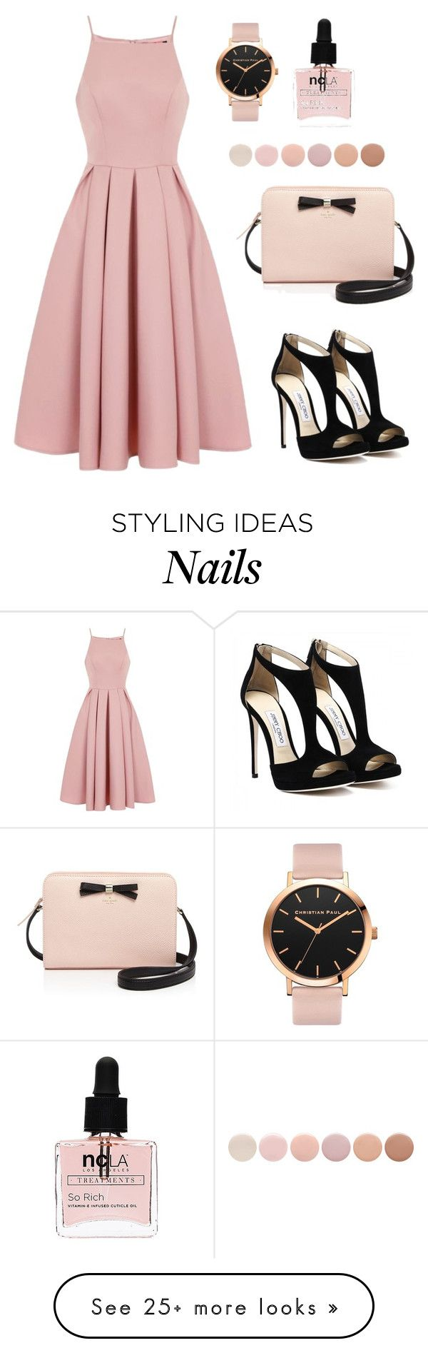 """#53 Casually Lovely"" by jocelynleebold on Polyvore featuring Chi Chi, Kate Spade, ncLA and Deborah Lippmann"