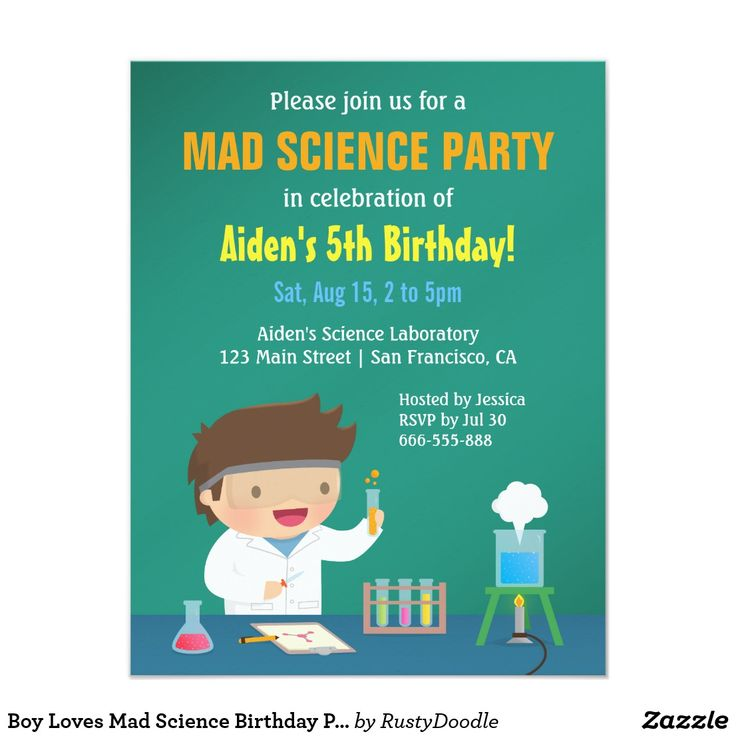 21 best Mad Science Party Invitations images on Pinterest | Texts ...