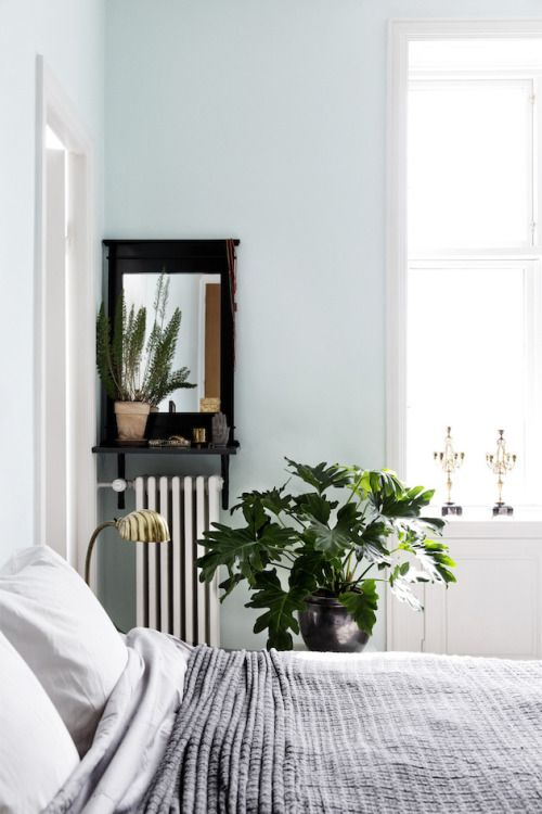 Simple bedroom space brought to life with greenery | Interior design; interior styling; homewares; decor; furniture; residential; soft; natural light | MINTY WARES | VIA - These Things Take Time