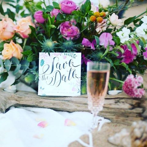 Floral Boho inspired Save the Dates || Laurie Lee Design