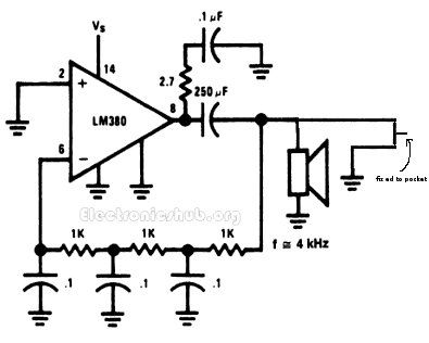 Bc Cdb A Cdb F B Ff A Circuit Diagram Security Alarm on Continuity Tester Circuit Diagram – Electronicshub Org