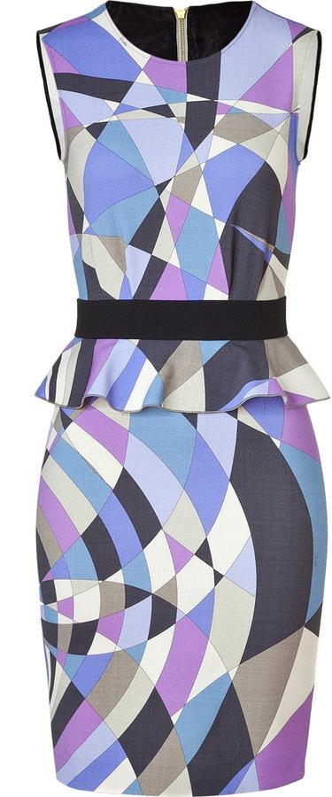 Emilio Pucci Ocean Geometric Print Peplum Dress: Emilio Pucci, Geometric Prints, Pucci Ocean, Style, Ocean Geometric, Fashion Week, Prints Peplum, Products, Peplum Dresses