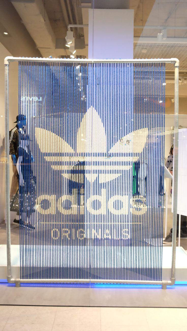 adidas original pop-up store Sydney lace up logo