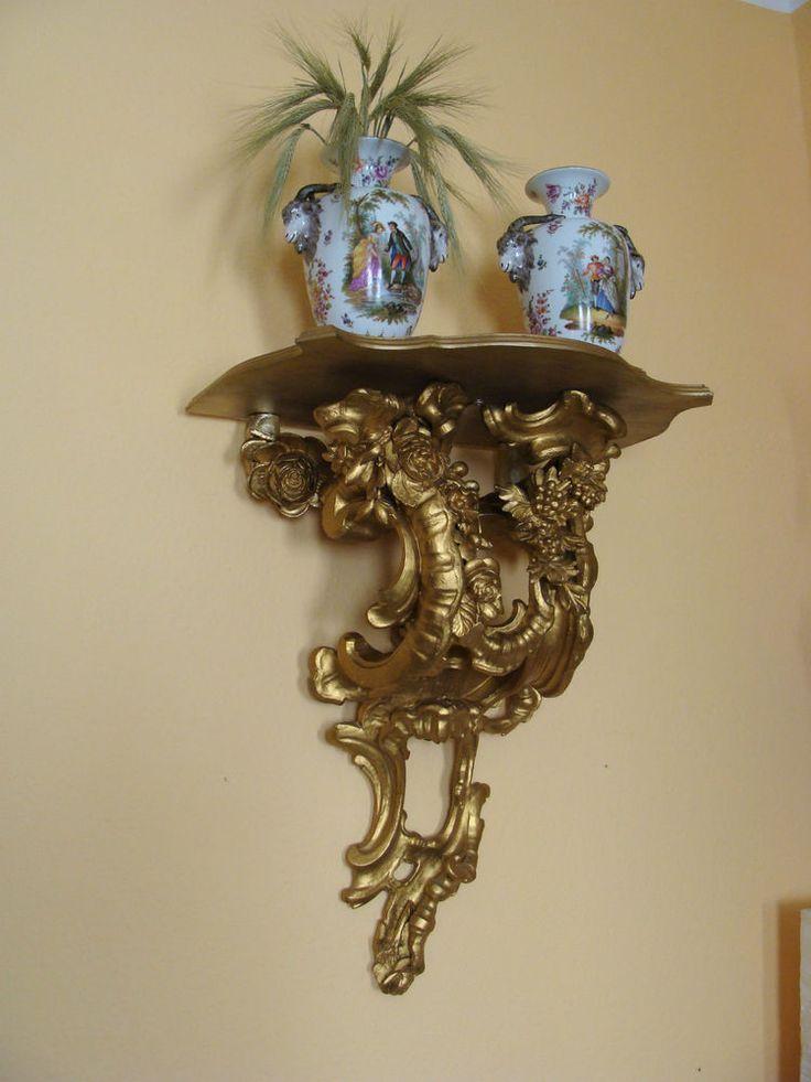 Konsole Wandkonsole Uhrenkonsole Spiegelkonsole Figurenkonsole Regal Rokoko Zeit