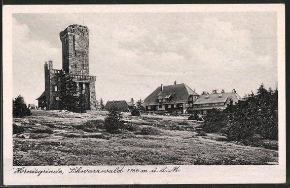 Alte Ansichtskarte: AK Hornisgrinde, Partie am Hornisgrindeturm