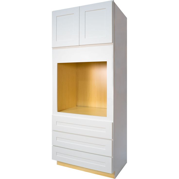Universal Oven Cabinet in Shaker White with 2 Soft Close ...