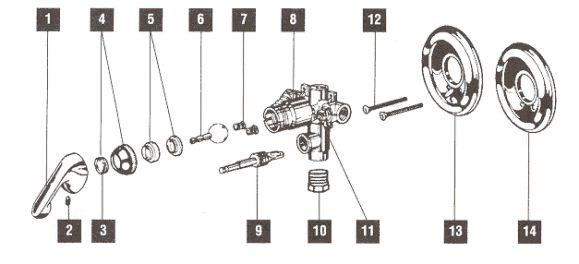 Delta Bath and Shower valves models 601 Shower valve