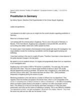 Prostitution in Germany (by Detective Superintendent Helmut Sporer)