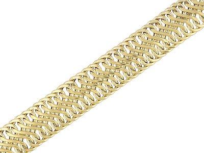 Splendido Oro(Tm) 14k Yellow Gold Sonata 8 Inch Bracelet
