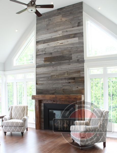 Barn Beam Mantels from Rebarn - Toronto, Ontario
