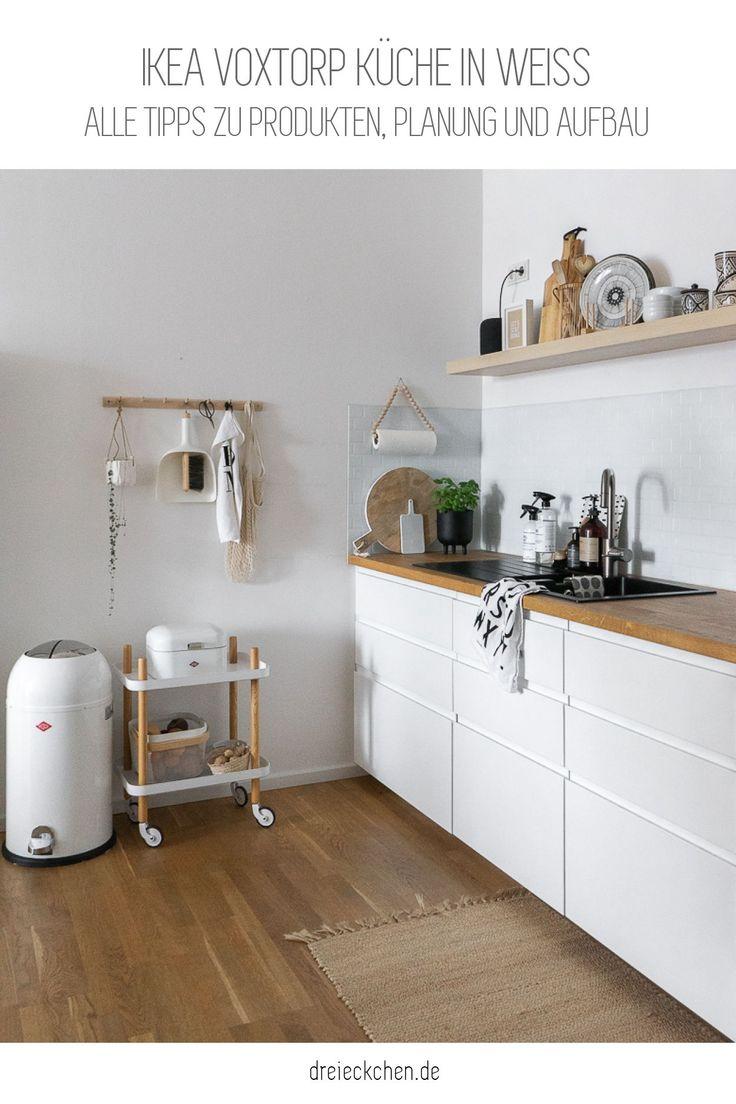 IKEA Voxtorp Küche in weiß   Ikea küche, Wohnung küche, Küche planen