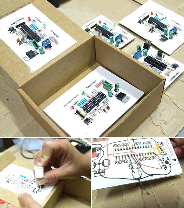 Guilherme created what may be the most inexpensive iteration of Arduino yet -This is a 100% functional version of the Arduino. We eliminate the PCB and use paper and cardboard as support and the re...
