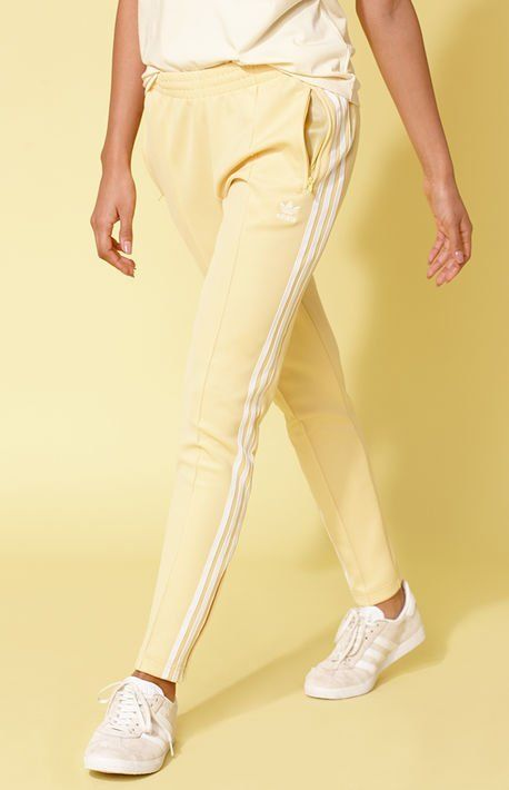 Adicolor Yellow SST Track Pants Adidas Joggers Outfit 32318e5eeaa36