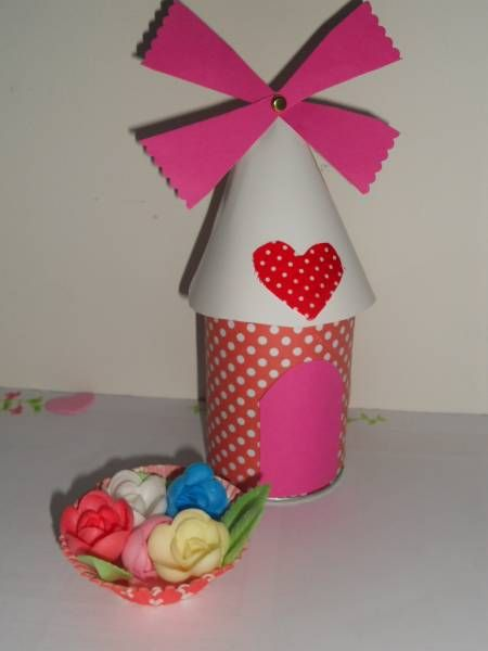 DIY : Moulin à vent, boite à bonbons | La cabane à idées