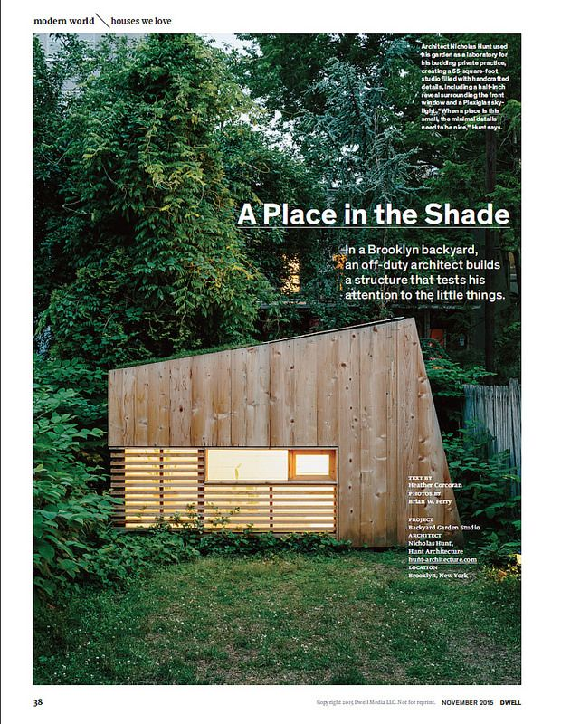 New work: Dwell Magazine cover story / Nov. 2015