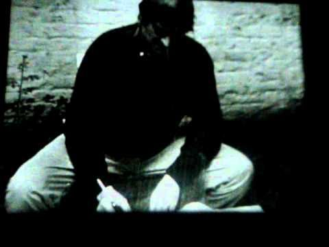 """Marcel Broodthaers, La Pluie (Projet pour un texte), 1969 — The film shows Marcel Broodthaers trying to write while the rain constantly washes away the ink. In the final scene, during which the artist gives up and drops his pen, the inscription """"Projet pour un texte"""" (Project for a text) appears. More: http://www.macba.cat/en/la-pluie-projet-pour-un-texte-1595"""
