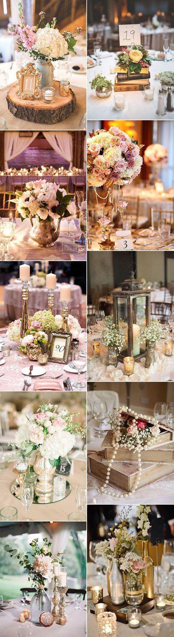 chic vintage wedding centerpiece ideas #vintagewedding #weddingdecor #weddingcenterpieces