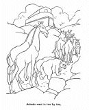 Bible Story Character Coloring Pages - Noah and the Arc