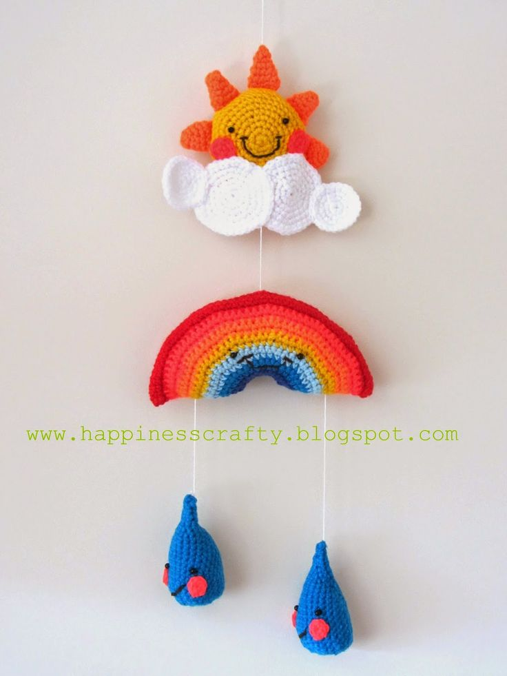 Happiness Crafty: Crochet Baby Mobile ~ Free Pattern